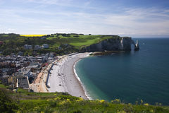 Etretat beach Royalty Free Stock Photos