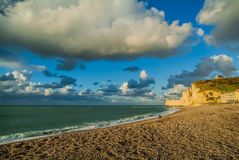 Etretat beach in normandie france Royalty Free Stock Photo