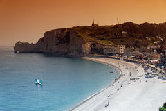 Etretat beach in Normandy Stock Photography