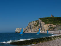 Etretat church Royalty Free Stock Image