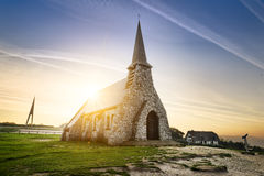 Etretat church France Stock Image