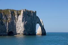 Etretat cliff. The famous cliffs at Etretat, Normandy, France Stock Photography