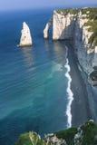 Etretat cliff France Stock Photos