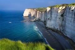 Etretat cliff France Royalty Free Stock Images