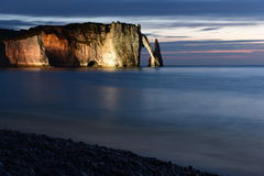 Etretat Cliff, Normandy, France Stock Images