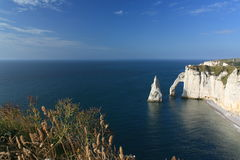 Etretat, the cliffs. Etretat's cliffs, High Normandy, France Royalty Free Stock Photo
