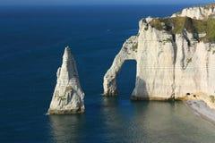 Etretat, the cliffs. Etretat's cliffs, High Normandy, France Stock Photography