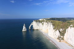 Etretat, the cliffs. Etretat's cliffs, High Normandy, France Royalty Free Stock Photography
