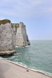 Etretat, the cliffs Stock Photos