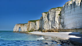 Etretat. Cliffs in a sunny day Stock Images