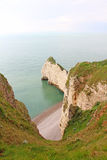 Etretat, cliffs Stock Photos
