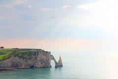 Etretat, cliffs Stock Images