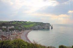 Etretat, cliffs Royalty Free Stock Photos