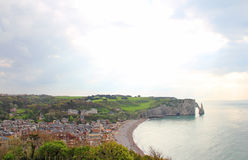 Etretat, cliffs Stock Photography