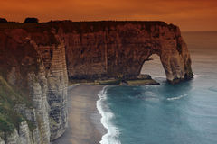 La manneporte in Etretat coast Royalty Free Stock Photos