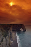La manneporte in Etretat coast Stock Photo