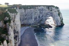 Etretat Coast in Normandy Stock Photo
