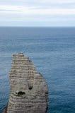 Etretat Coast in Normandy Stock Image