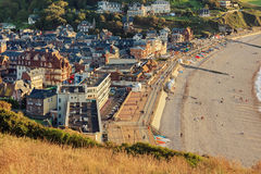 Etretat commune from viewpoint, France Stock Image