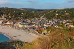 Etretat commune from viewpoint, France Royalty Free Stock Photo