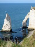 Etretat falaise. View of the cliffs at etretat in normandy, france Stock Photos