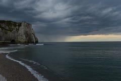 Etretat faleza, Normandy, Francja Obraz Stock