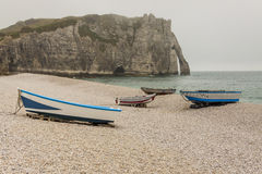 Etretat, France Cote d'Albatre (Alabaster Coast) is part of the Royalty Free Stock Photos