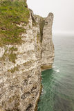 Etretat, France Cote d'Albatre (Alabaster Coast) is part of the Stock Photos