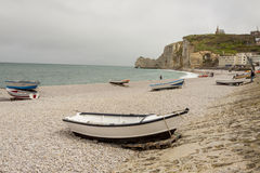 Etretat, France Cote dAlbatre (Alabaster Coast) is Royalty Free Stock Image