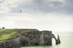 Etretat golf field Royalty Free Stock Photography