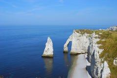Etretat klippor Arkivbild