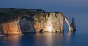 Etretat, Normandië, Frankrijk Stock Foto's