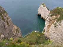 Etretat Normandië, Frankrijk Stock Foto's