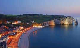 Etretat, Normandië, Frankrijk Stock Fotografie