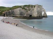 Etretat Normandia, Francia Fotografia Stock Libera da Diritti
