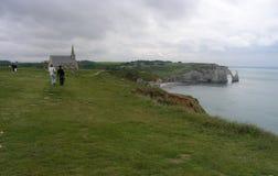 Etretat Normandia, Francia Fotografie Stock Libere da Diritti