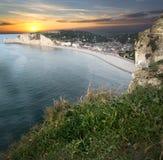 Etretat - Normandie -法国 免版税库存照片