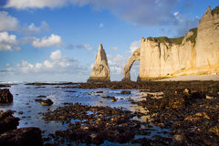 Etretat - Normandie - France Stock Images