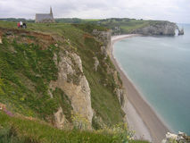 Etretat Normandie, Frankrike Royaltyfri Foto