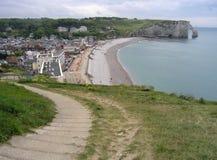 Etretat Normandy, França Imagens de Stock