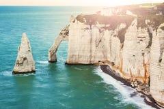Etretat, Normandy, France. Royalty Free Stock Photos