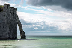 Etretat op de Hogere kust van Normandië in het Noorden van Frankrijk Royalty-vrije Stock Foto