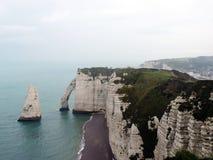 Etretat plaża w Normandie zdjęcia royalty free