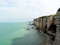 Etretat's beach in Normandie Stock Photos