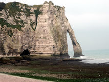 Etretat's beach in Normandie. France Stock Images