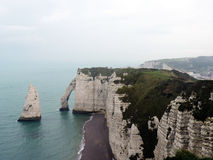 Etretat's beach in Normandie. France Royalty Free Stock Photos