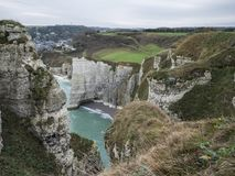 Etretat`s cliffs royalty free stock image