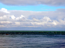Etretat's sea in Normandie Stock Image