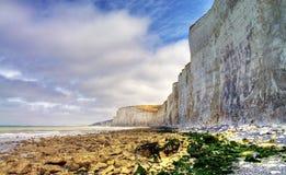 Etretat. Sea cliffs landscape Etretat Normandy France Royalty Free Stock Photos