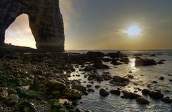 Etretat. Sea cliffs landscape Etretat Normandy France Royalty Free Stock Photo